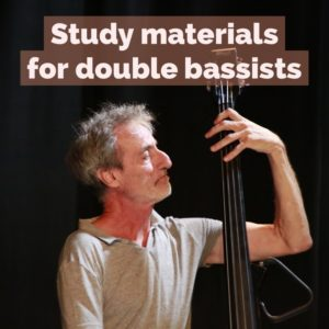 study materials for double bassists