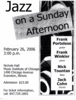 Jazz Concert at Music Institute this Sunday