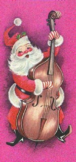 Santa on the bass