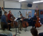 University of Illinois bass quartet tours Chicagoland