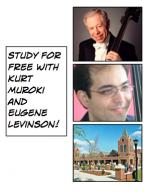Eugene Levinson and Kurt Muroki taking full-scholarship bass students