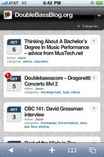 New iPhone-friendly format for DoubleBassBlog.org
