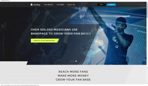 make a dynamic site for your band easily with BandPage