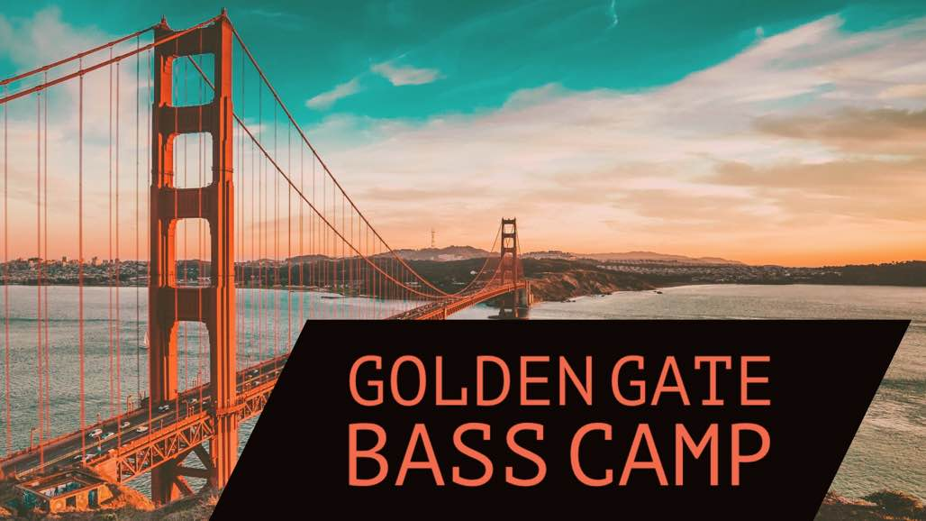 The 2016 Golden Gate Bass Camp takes place from July 18 - 22