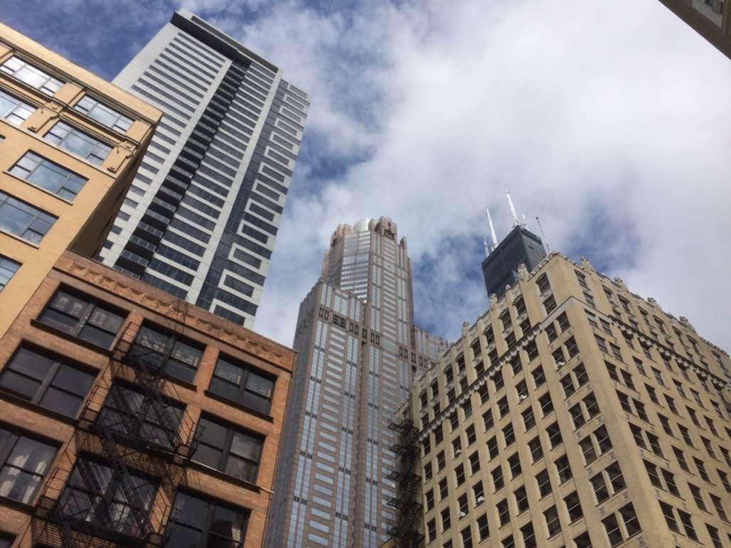 The intersection of Van Buren and Franklin streets in Chicago's Loop